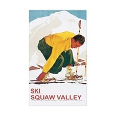 Ski Squaw Valley Rectangle Decal
