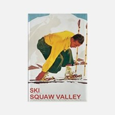Ski Squaw Valley Rectangle Magnet
