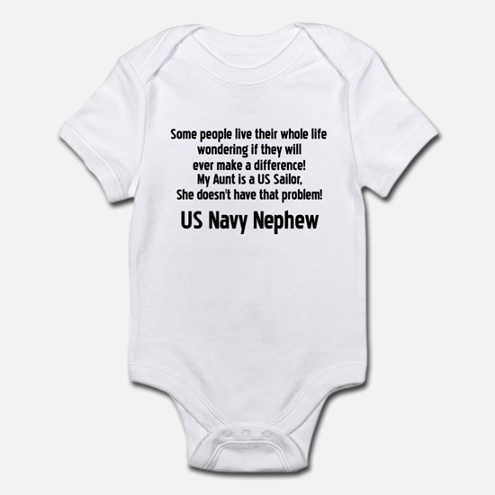 No Prob 4 Aunt Navy Neph Infant Bodysuit