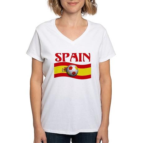 TEAM SPAIN WORLD CUP Women's V-Neck T-Shirt