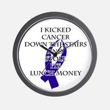 Cancer Bully (Dark Blue Ribbon) Wall Clock