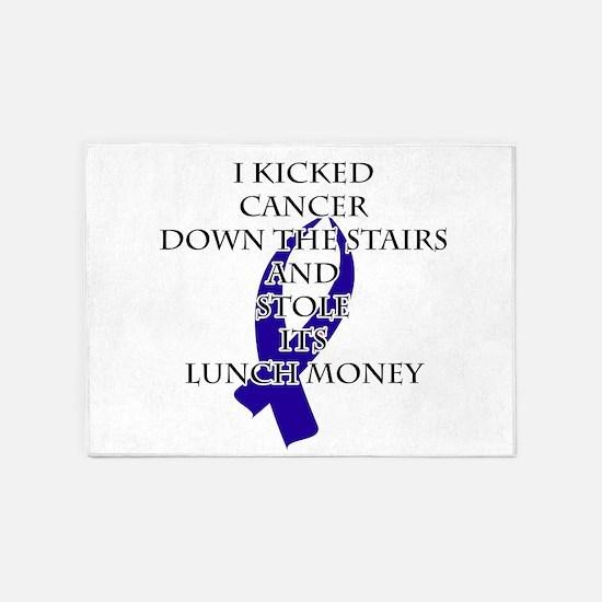Cancer Bully (Dark Blue Ribbon) 5'x7'Area Rug