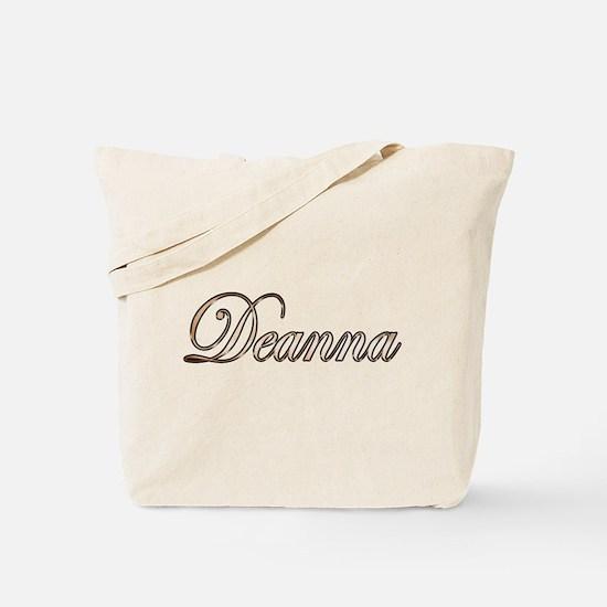 Gold Deanna Tote Bag