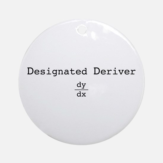 Designated Deriver Ornament (Round)