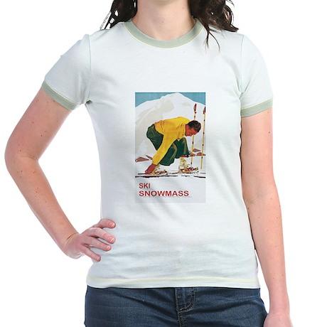 Ski Snowmass Colorado Jr. Ringer T-Shirt