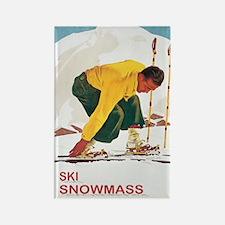 Ski Snowmass Colorado Rectangle Magnet