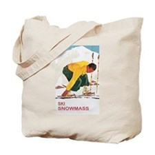 Ski Snowmass Colorado Tote Bag