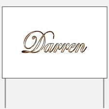 Gold Darren Yard Sign