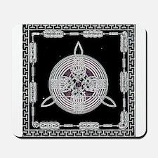 Silver on Black Mousepad