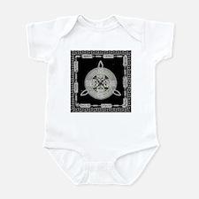 White on Black Infant Bodysuit