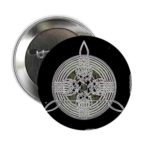 """White on Black 2.25"""" Button (100 pack)"""
