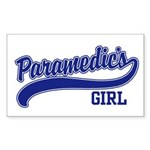 Paramedic's Girl Rectangle Sticker