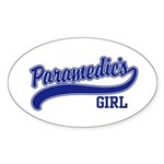 Paramedic's Girl Oval Sticker