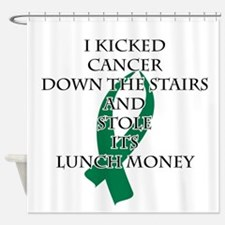 Cancer Bully (Green Ribbon) Shower Curtain