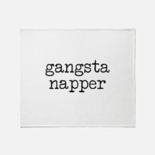 Gangsta Napper Throw Blanket