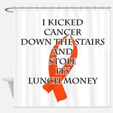 Cancer Bully (Orange Ribbon) Shower Curtain