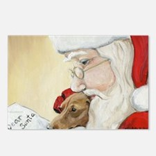 Cute Dachshund christmas Postcards (Package of 8)