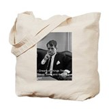 Kennedy quote Canvas Totes
