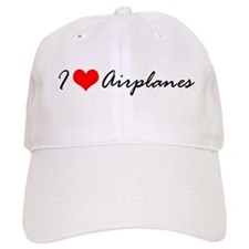 I Heart Airplanes Baseball Cap