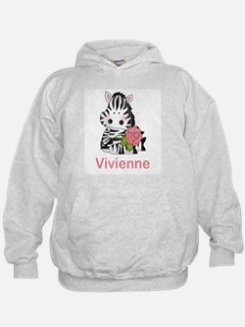 Vivienne's Zebra Rose Hoodie