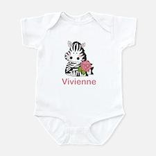 Vivienne's Zebra Rose Infant Bodysuit