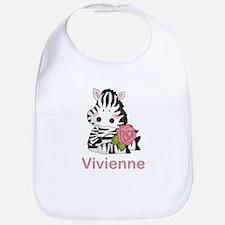 Vivienne's Zebra Rose Bib