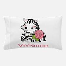 Vivienne's Zebra Rose Pillow Case