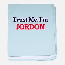 Trust Me, I'm Jordon baby blanket