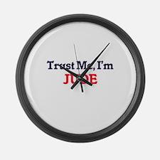 Trust Me, I'm Jude Large Wall Clock