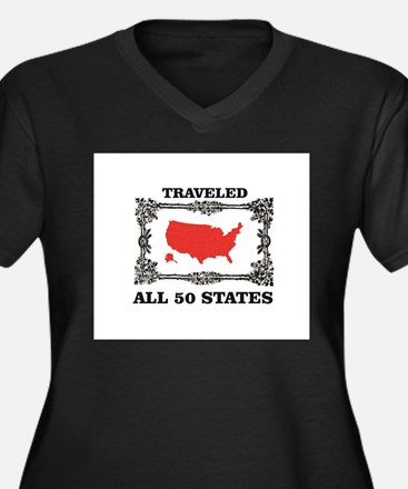 red traveled USA Plus Size T-Shirt