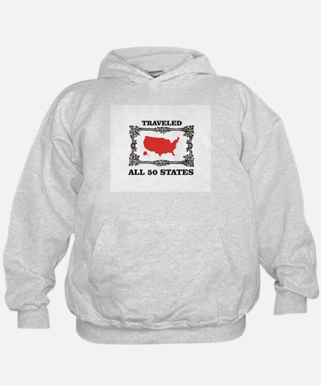 red traveled USA Sweatshirt