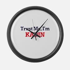 Trust Me, I'm Kadin Large Wall Clock