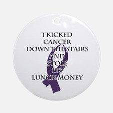 Cancer Bully (Purple Ribbon) Round Ornament