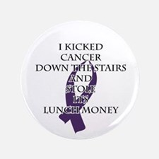 Cancer Bully (Purple Ribbon) Button