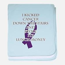 Cancer Bully (Purple Ribbon) baby blanket