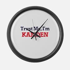 Trust Me, I'm Kamden Large Wall Clock