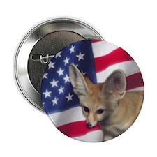 Patriotic Fennec Fox Button