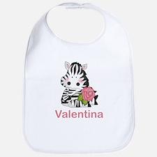 Valentina's Zebra Rose Bib