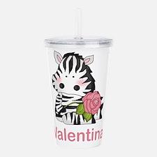 Valentina's Zebra Rose Acrylic Double-wall Tumbler