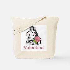 Valentina's Zebra Rose Tote Bag