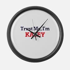 Trust Me, I'm Kasey Large Wall Clock