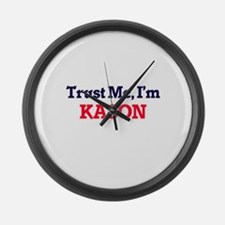 Trust Me, I'm Kason Large Wall Clock