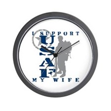 I Support My Wife 2 - USAF Wall Clock