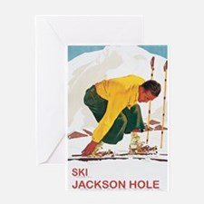 Ski Jackson Hole Greeting Card