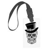 Sugar skull gentleman Luggage Tags