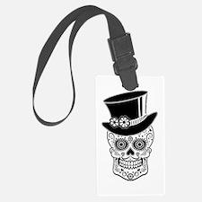 Sugar Skull Gentleman Luggage Tag