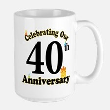 40th Anniversary Party Gift Mugs