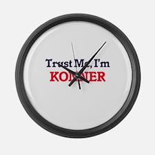 Trust Me, I'm Konner Large Wall Clock