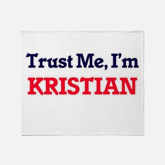 Trust Me, I'm Kristian Throw Blanket