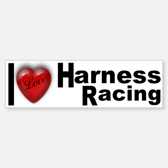 """Harness Racing"" Bumper Bumper Bumper Sticker"